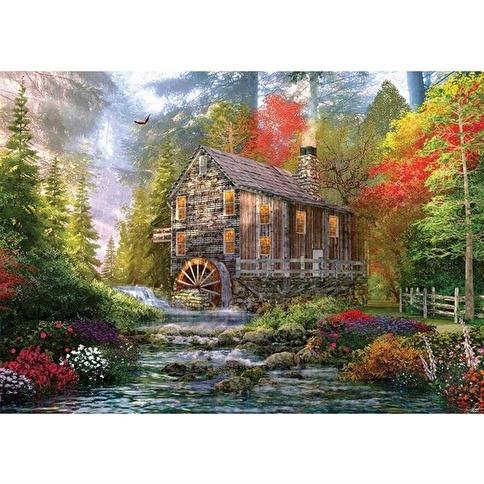 KS Ks 1000 Parça Puzzle The Old Wood Mill Renkli